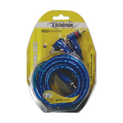 Rca Cable 6' Xscorpion Blue Triple Shielded W/Remote Wire
