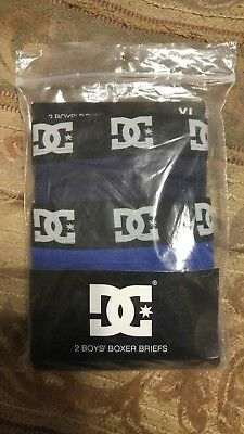 DC Shoe 2-Pack Boys Boxer Brief Size XL 16-18 (waist size 28-30)