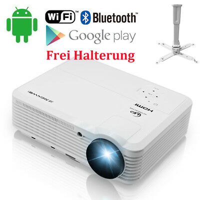 Mini DLP Heimkino Beamer Projektor Android Wifi Bluetooth 3D Film Spiel 1080p HD