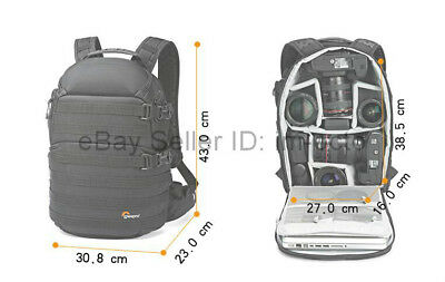 """LowePro ProTactic 350 AW Camera Photo Bag Backpack for DSLR & 13"""" Laptop"""