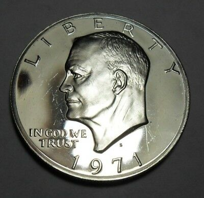 1971 S Eisenhower *proof* Dollar Coin   *40% Silver*   **free Shipping**