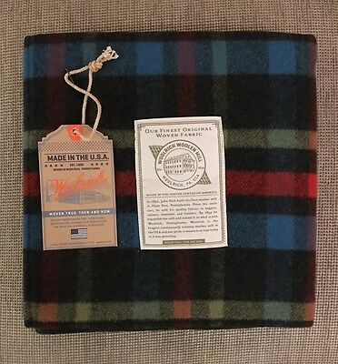 New! RARE Woolrich Baby Rich Lullaby Small Wool Plaid Throw Blanket. Made In USA