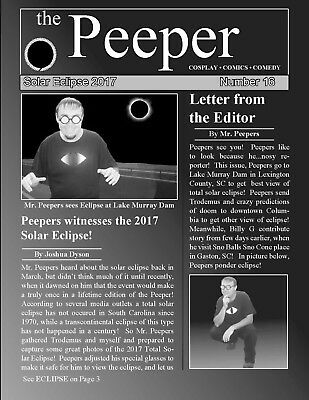 The Peeper #16 Comedy Newsletter--Solar Eclipse Special