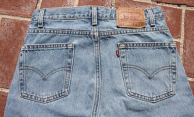 Vintage LEVI 512 JEANS 31 W 30 L Slim FIt Tapered Leg Made in USA Light Wash