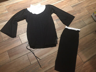 SEXY NUN CLERGY PRIEST Couples Outfit 2 pieces COSTUME Size ML 10-14
