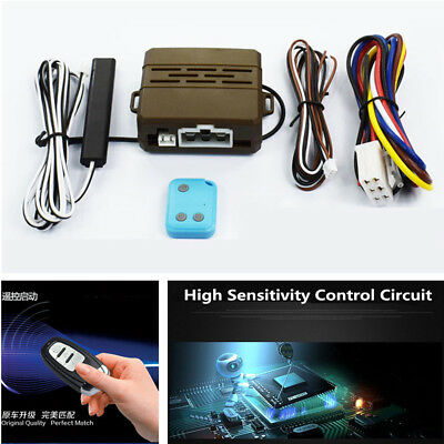 Car Alarm Security System Induction Remote Control Engine One Button Push  Start