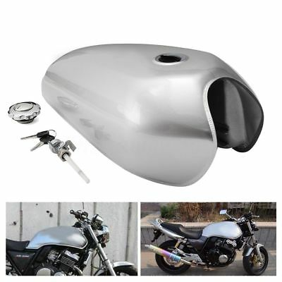 Moto 9L 2.4 Galón Tanque Combustible Fuel Gas Tank For Honda CG125 Cafe Racer
