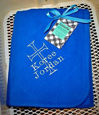 Personalized Flannel Blanket Many Colors to Choose From