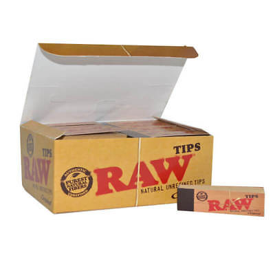 Bulk Wholesale lot 50 Raw Rolling Paper Natural Unrefined Tips full box tobacco