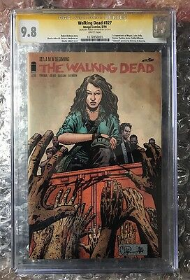 Walking Dead 127 CGC 9.8 SS Kirkman: PREVIEWS OUTCAST. 1st App Magma And More