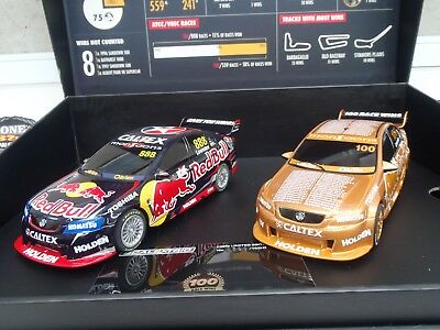Slot Car Scalextric 1:32 Commodore Twin Pack Celebrating Craig lowndes 100 super
