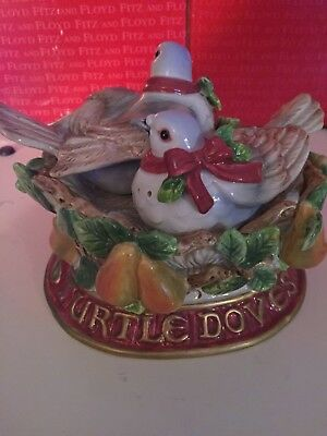 Retired Fritz And Floyd Two Turdle Doves Salt And Pepper # 182/1500