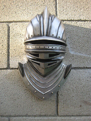 """14"""" Height Large Suit of Armor Medieval Knight Bust Wall Plaque Figurine Decor"""