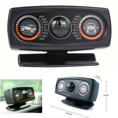 Multifunction Car Compass Inclinometer Angle Slope Level Meter Gradient Balancer