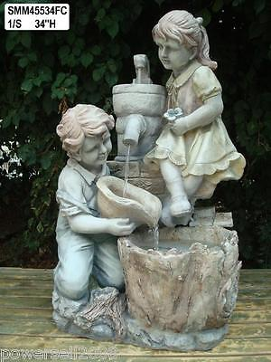 New Fashion Boy And Girl Fountain European Home Furnishing Decoration