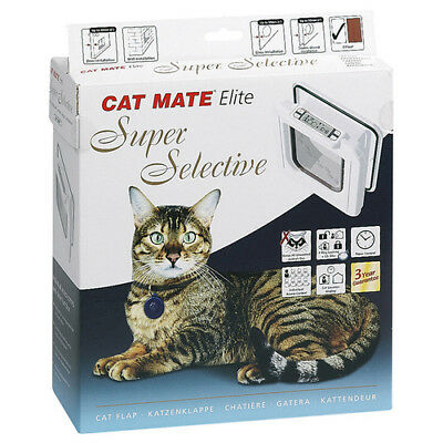 CAT MATE Porte de chat Elite Super sélectif 305 W blanc, NEUF