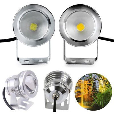 10W 12V White LED Underwater Spot Light Waterproof Pond Aquarium Lamp Alloy IP65