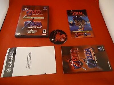 The Legend of Zelda Ocarina of Time & Master Quest Nintendo Gamecube COMPLETE