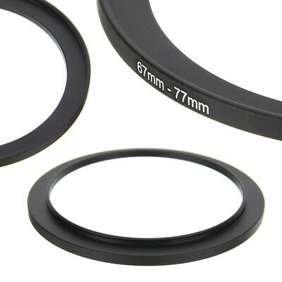 67-77mm Metal Step Up Ring 67 to 77mm Camera Lens Filter Stepping Adapter Holder