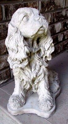 Concrete Cavalier King Charles  Cocker Spaniel Statue, Or Memorial Grave Marker