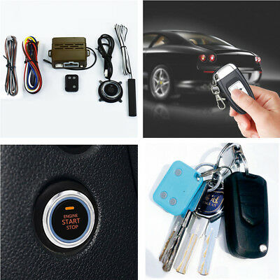 Car Alarm Security System Induction Engine One Button Start Remote Push Controls