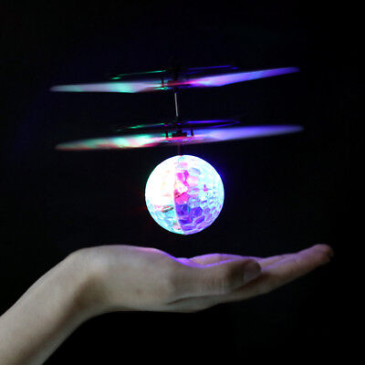 Infrared Induction Flying Ball Sensor Flight RC Helicopters with Color LED Light