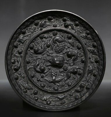 Exquisite Rare Chinese Bronze Mirror Mythical Animals Round Mirror US212 AC