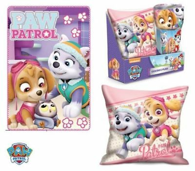 Paw Patrol Skye & Everest Kissen & Fleece-Decke SET NEU
