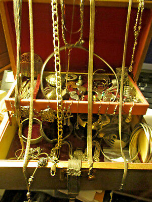 Junk Draw Jewelry Lot Antique, Vintage Some New Most Silver 925 Over 50 Items