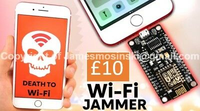 Wifi Jammer Hacker nodeMCU Deauther LATEST | Incl. Manual & Cable
