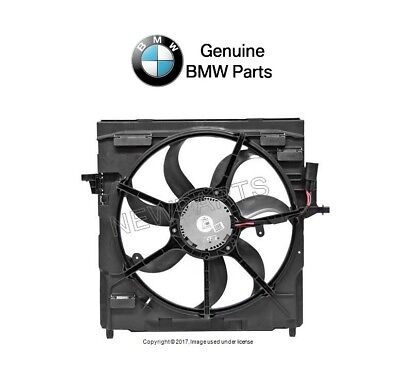 For BMW E70 X5 07-10 Cooling Fan Assembly with Shroud Genuine 17-42-8-618-240