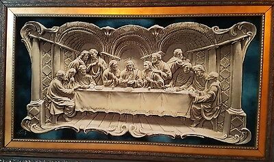 The Last supper Wool silk Persian Tableau Rug (Pictorial Carpet) hand woven
