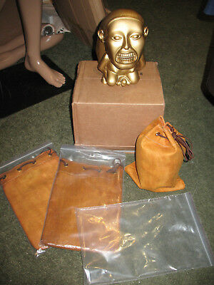 Indiana Jones Sandbag Raiders of the Lost Ark Movie Prop Idol Sand Bag LEATHER