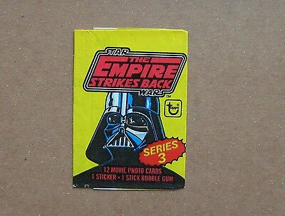 Star Wars The Empire Strikes Back Trading Card Wrapper - Topps 1980 !!!