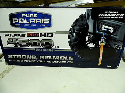 Polaris Pro Hd 4500Lb Winch 2879141 Ranger 900 Xp Winch Kit Synthetic Cable