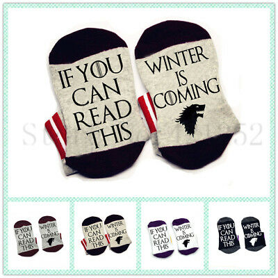 Game of thrones Socks If you can read this winter is coming socks cotton