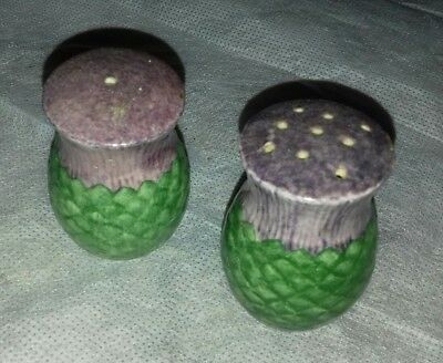 Vintage thistle salt pepper shakers