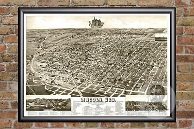 20x30 1889 Kearney Nebraska Vintage Old Panoramic City Map