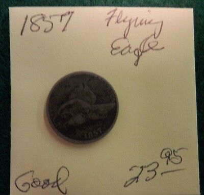 1857 FLYING EAGLE cent - GOOD