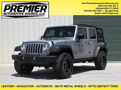2014 Jeep Wrangler LOADED RUBICON UNLIMITED JKU VERY CLEAN WELL KEPT JEEP LOADED NAVIGATION HEATED SEATS LEATHER AUTO 4.10 GEAR