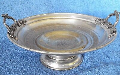 Antique  Imperial Russian Polish  SILVER PLATED FRUIT BOWL FRAGET