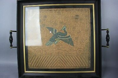 18th/19th C. Chinese Framed Embroidered Badge Of Rank, BUZI