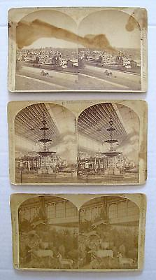 Three Stereoview Photographs of the 1876 Centennial International Expo  0452