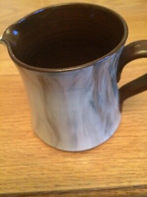 "Vintage Holkham Pottery Jug. 4"" high - brown and cream."