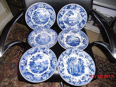 Wedgwood Blue and White Landscape Collection Plate - Various