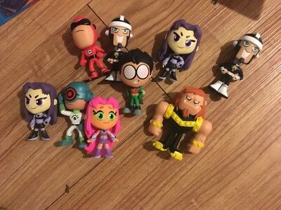 Lot Of 9 Funko Mystery Minis Teen Titans Go! Chase Exclusive 1/72 1/36 Figure 1