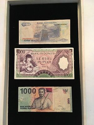 INDONESIA Paper Money Lot 1000 RUPIAH NOTES