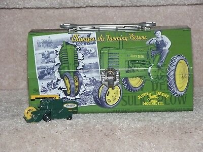 JOHN DEERE METALThis is a grea LUNCH BOX WRENCH HANDLE & 1977 MATCHBOX HARVESTER