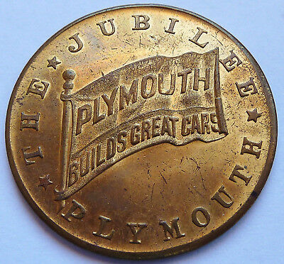 1928-1938 ~ The Jubilee ~ Plymouth ~ 10 Years Of Great Cars ~ Gilt Medal