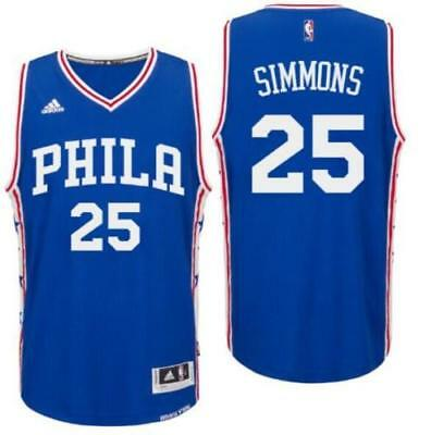 New Men's Philadelphia 76ers #25 Ben Simmons Basketball jersey Blue S-XXL